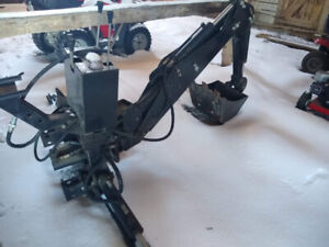 tractor backhoe attachment