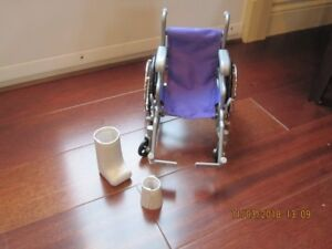"Wheelchair and casts for 18"" doll"