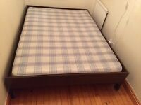 IKEA DOUBLE BED WITH FREE MATTRESS COLLECTION ONLY