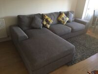 Sofa with chaise long