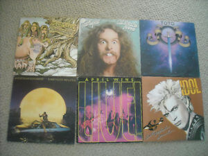 BOX of ROCK RECORDS FOR SALE