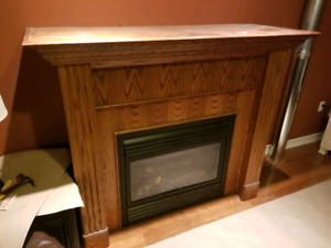 Fire place surround and mantle.   Fire place not included.
