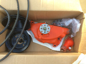 Water pump, pulleys and new belts