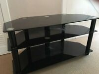 Black Gloss Corner TV Unit