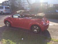 Red beetle convertible, beautiful car!