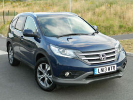 2013 (13) Honda CR-V 2.2i-DTEC ( 150ps ) 4X4 EX WITH SAT NAV+LEATHER+PANORAMIC