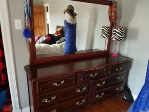 Solid Cherry Wood Dresser