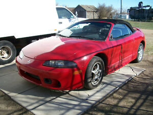 FOR SALE  1997 MITSUBISHI ECLIPSE SPYDER CONVERTIBLE ONLY $5,500