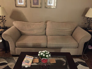 Beige Couch and chair for sale