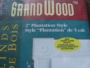 """BRAND NEW IN THE BOX 2"""" FAUX WOOD BLINDS  24"""" X 48"""""""