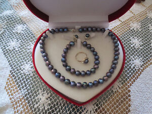 Fresh water pearl  jewellery set