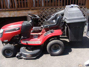 2009 Craftsman lawn tractor with bags and trailer