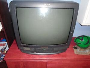Télé avec VHS intégré fonctionnel