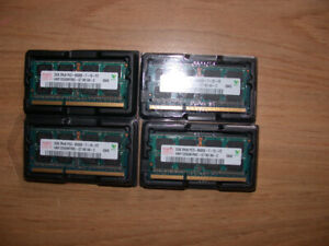 2GB RAM SO-DIMMs of 1066MHz DDR3