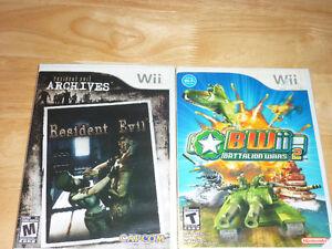 2 jeux de Nintendo Wii