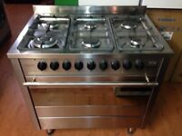 6 hubs gas cooker with electric oven