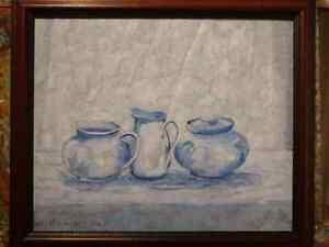 "ORIGINAL PAINTING - ""Still Life in Blue"""