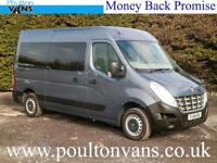 2014 (14) RENAULT MASTER MM33 L2H2 MWB 5SEAT WHEELCHAIR ACCESS MINIBUS