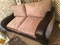 LIKE NEW 3 SEATER BROWN SOFA AND 2 SEATER ** CAN DROP OFF **