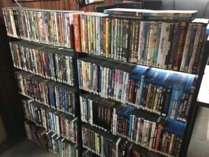 DVD COLLECTION AND 2 STANDS