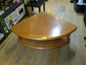 """Beautiful Pie Shaped """"Lift"""" Coffee Table For Sale!"""