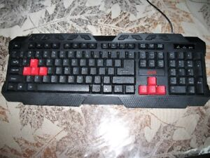 AZZA Gaming Multimedia Clicky Keyboard With Black and Red
