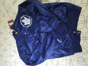 Mitchell and Ness leafs jacket