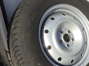 Almost new NORDIC WINTER TIRES with RIMS London Ontario image 1