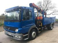 2010 Mercedes Atego 1224 Euro5 dropside tipper palfinger PK 8502 crane and grab