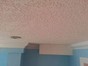 Remove popcorn ceiling replace with smooth or California finish