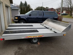 All Aluminum Double Wide Snowmobile / ATV / Bike Trailer