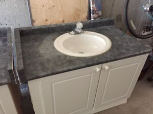 Full Bathroom vanity with faucets