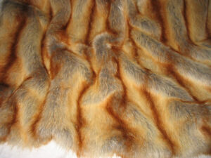 PREMIUM QUALITY FAUX FUR, RED FOX, SOLD BY METER OR BY ROLL