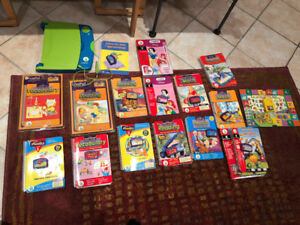LeapPad Learning system: includes 12 books/cartridges and game