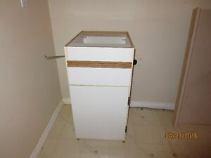 White Open-Top Cabinet