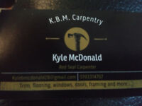 Certified Carpenter for hire