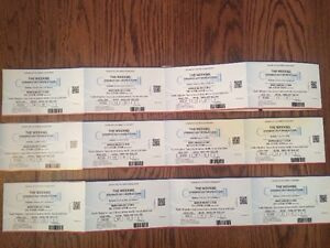"12 HARD COPY tix """"The Weeknd"" @ Bell Center - May 30 2017"