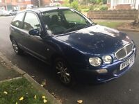 ROVER 25 1.4 PETROL LONG MOT STARTS AND DRIVES WELL 2002