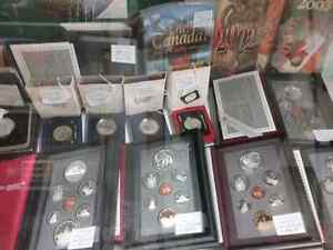 Proof coin sets so,  bills stamps sportscards plus 600 booths  Stratford Kitchener Area image 2