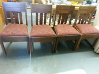 ANTIQUE DINING CHAIRS SET OF 4