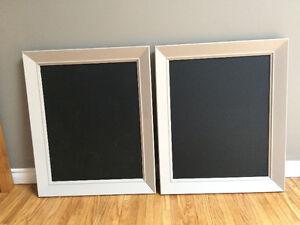 2 light grey chalkboard frames wedding event home decor