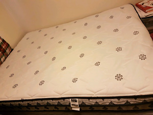 Bed set (Queen matress/box spring/frame) for sale