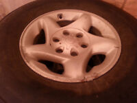 4 Toyota Tundra Winter BF Goodrich Tires and Rims