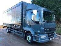 2012 62 DAF LF 55.180 Euro 5 14 ton sleeper cab 24ft curtainsider