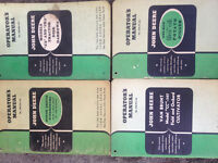 old john deere manuals from 20s to 60s