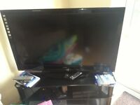 "42"" Sanyo inch LCD hd 1080p TV - black - comes with stand"