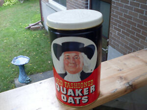 Old Fashioned Quaker Oats Metal Tin 1982