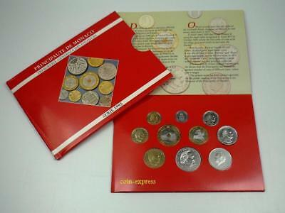 *** MONACO KMS Kursmünzensatz 1995 Francs Coin Set letzte Münzen vor Euro ***