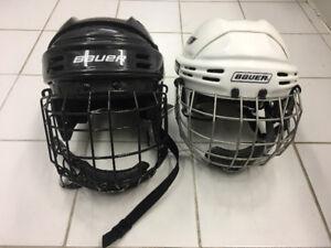 Youth Bauer Hockey Helmets*, 1 large & 1 medium