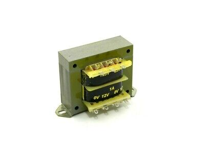 Transformador Alimentacion 12V+12Vac 1,0Amp